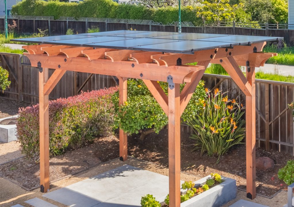 Shade Power solar pergola view from above